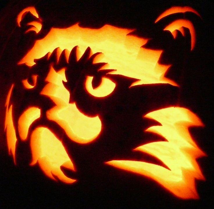 Carved pumpkin grumpy cat pumpkin carvings at ken 39 s for Cat carved into pumpkin
