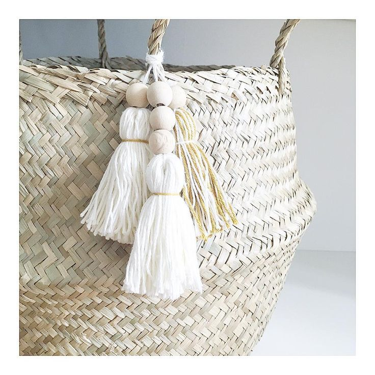 Basket decoration by @vousreprendrezbienunpeudedecoRange #grenediy