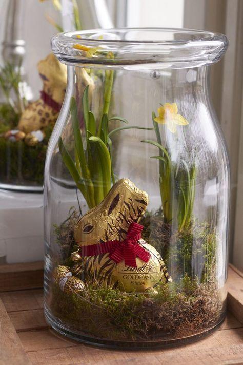 Osternest im Glas (Diy Wedding Present) gifts Pinterest - küche neu bekleben