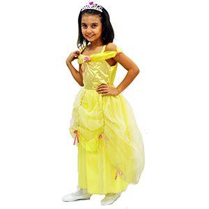 Belle Kız Çocuk Kostüm 7-8 Yaş, kız çocuk doğum günü elbisesi