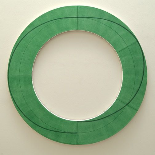 """Robert Mangold """"Ring Image J"""" 2010. Acrylic and pencil on canvas."""