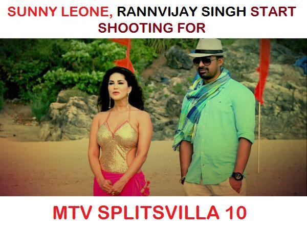 #SunnyLeone #RannvijaySingh started shooting for MTV Splitsvilla 10