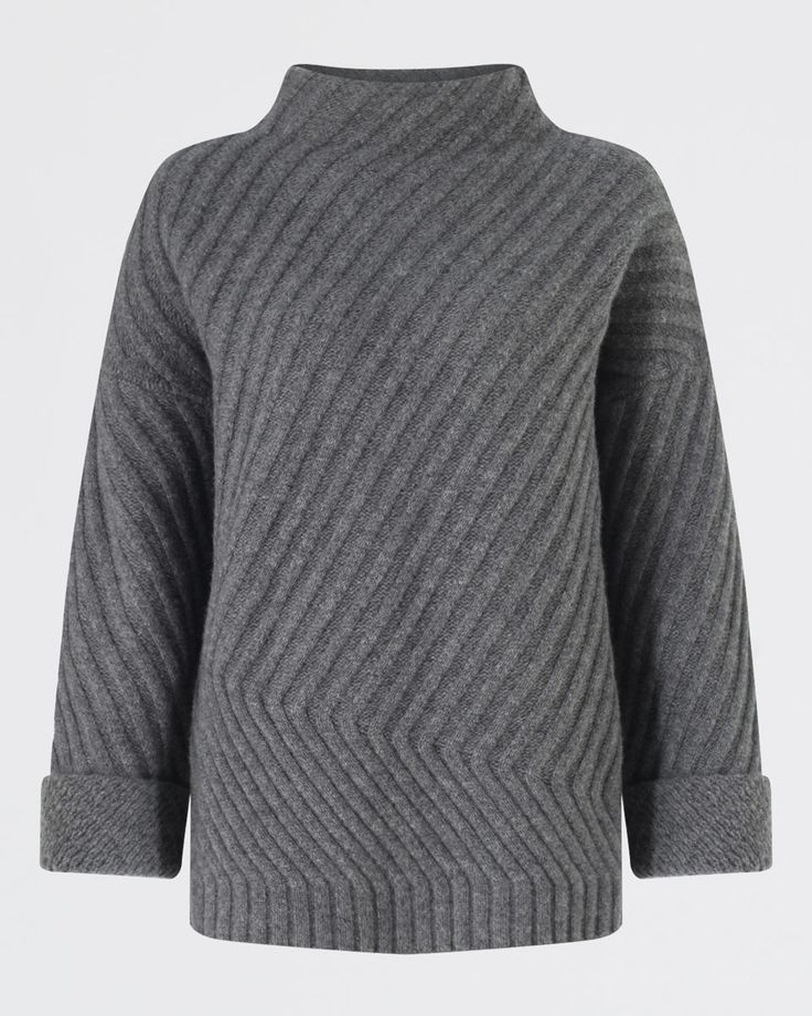Diagonal Rib Sweater