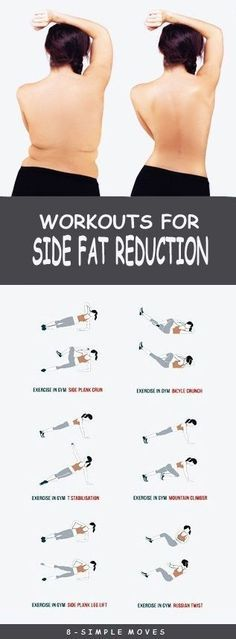 8 Effective Exercises To get rid of Side Fat