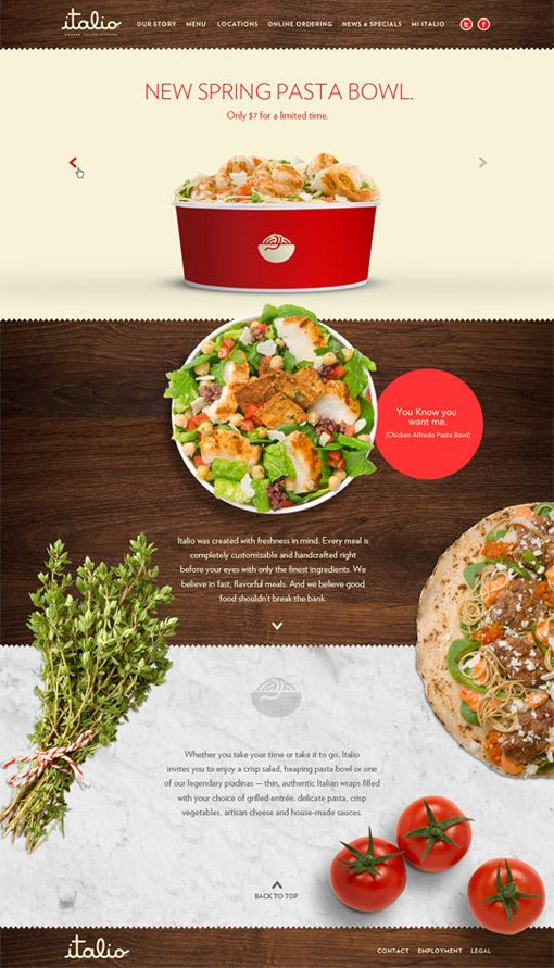 Push: Italio Modern Kitchen Identity and Collateral Push recently completed the identity and extensive collateral for Italio, a fast casual Italian restaurant chain.