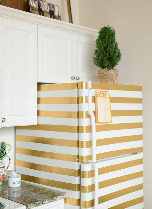 ideas para decorar el frigorífico con vinilo adhesivo #vinilo #muebles #cocina #pared #decoracion #contact