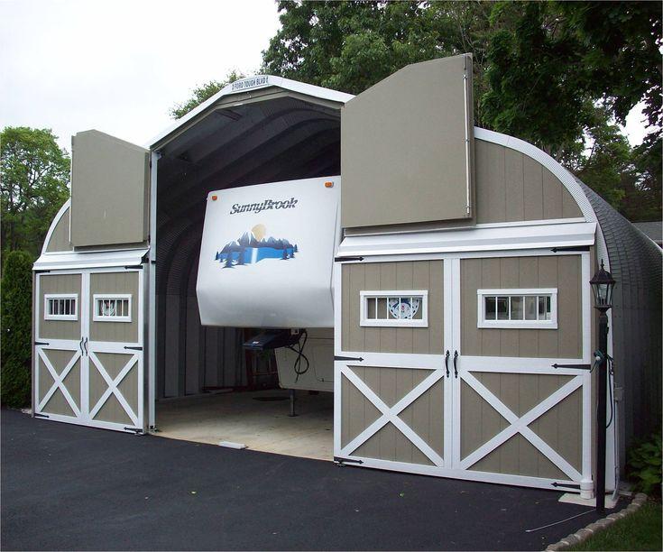 Metal RV Garages Prefab Steel Motorhome Garage Kits
