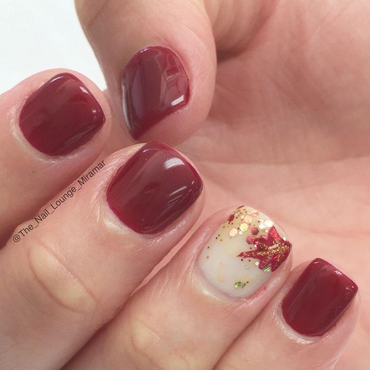 Autumn fall nail art design