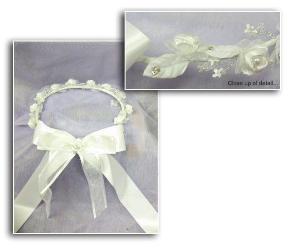Flower Girl Halo - White