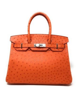 Hermès Birkin 30cm Orange Ostrich Chevre Leather Weekend Travel Bag. Save  big on the Herms Birkin 30cm Orange Ostrich Chevre Leather Weekend Travel  Bag! 30397762de3bd