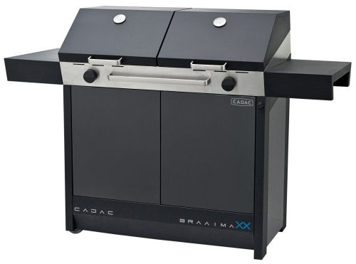 CADAC BraaiMaxx - A revolution in outdoor cooking with 2 independent cooking areas that allow for a variety of interchangeable cooking surfaces to be used; 2 at a time.