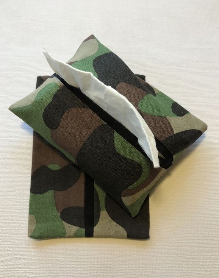 Camouflage Fabric Purse Kleenex Tissue Holders, Tissue Packet Covers, Handmade  | eBay