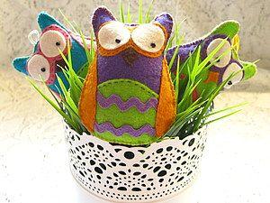 Шьем яркую совушку из фетра - Ярмарка Мастеров - ручная работа, handmade