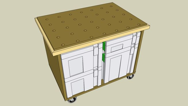 Large preview of 3D Model of Mobile Work Table For Festool Kapex Saw