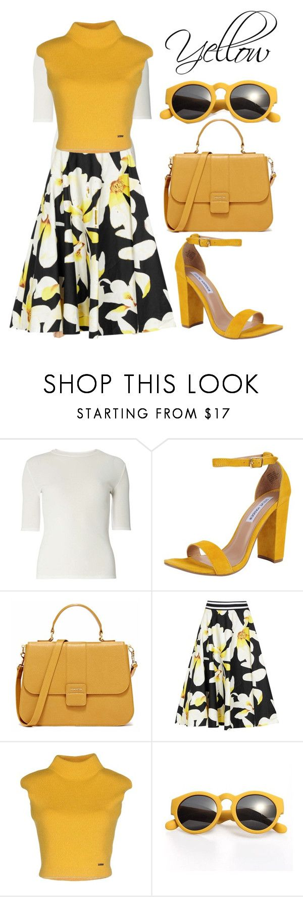 """""""Shades of You: Sunglass Hut Contest Entry"""" by sandrinah ❤ liked on Polyvore featuring Dorothy Perkins, Steve Madden, Alice + Olivia, Dsquared2 and shadesofyou"""