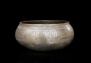 A Timurid tinned copper bowl | Persia, late 14th century