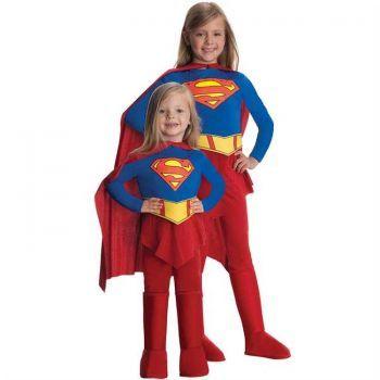Super Girl Streç Kız Çocuk Kostümü 12-14 Yaş Bebek ve Çocuk Kostümleri Rubies