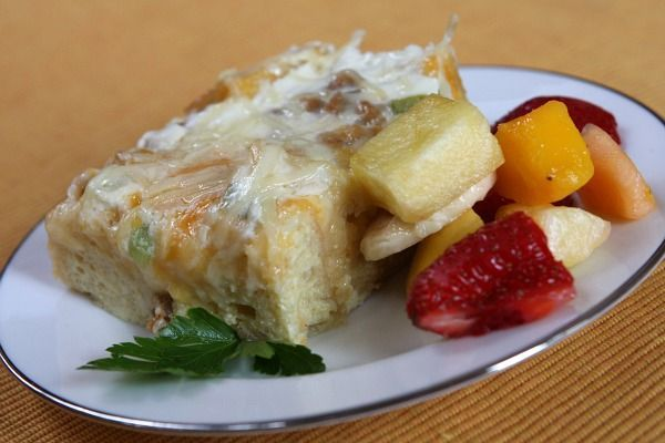 Buffet Breakfast Casserole- we serve this  every Christmas morning and it feeds a ton of hungry people!