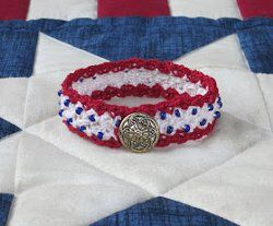 1000 images about crochet jewelry patterns on pinterest for Patriotic beaded jewelry patterns