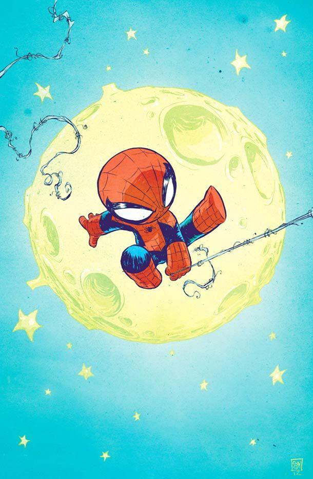 """Les """"Baby Super Heroes"""" de l'illustrateurSkottie Young, des versions mignonnes à croquer de nos super héros favoris, des X-Men aux 4 Fantastiques en passant"""