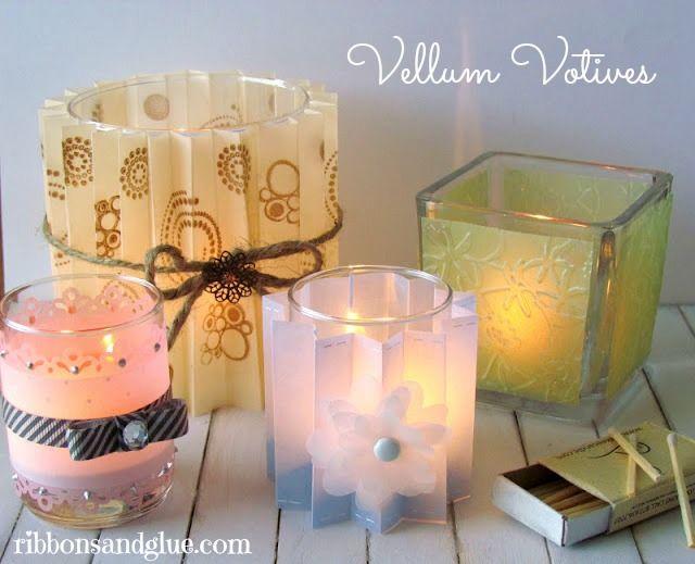Vellum votives tutorial tutorials how to make and diy for Homemade votive candles