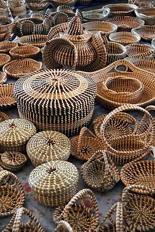 Charleston Gullah sweetgrass baskets    My sister collects wonderful baskets -- and had a special appreciation for these.  She lived in Charleston while her husband was in the Navy.