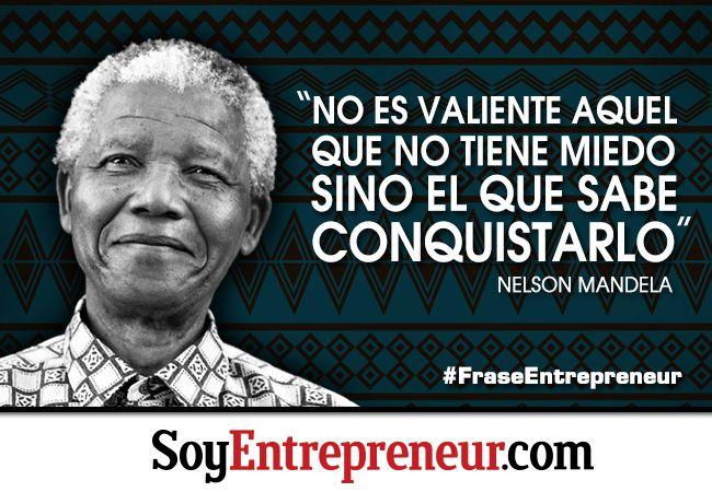 La #frase de inspiración de esta semana es de #NelsonMandela (conocido como Madiba en su país) reconocido por ser el primer presidente electo democráticamente en Sudáfrica y por luchar contra el apartheid. Fue reconocido con el Premio Nobel de la Paz y es un ejemplo para muchos.