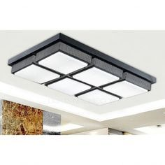 Affordable Rectangular Acrylic Shade 28.7 Inch Long Led Kitchen Ceiling  Lights