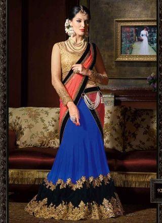 Graceful Blue And Beige Designer lehenga choli http://www.angelnx.com/Lehenga-Choli/Designer-Lehenga-Choli