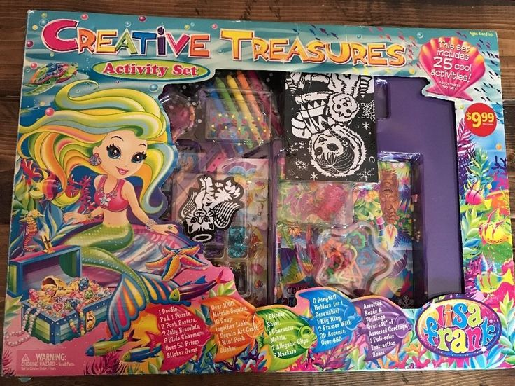 Lisa Frank Creative Treasures Activity Set Stickers Puzzle Jewelry Felt Coloring