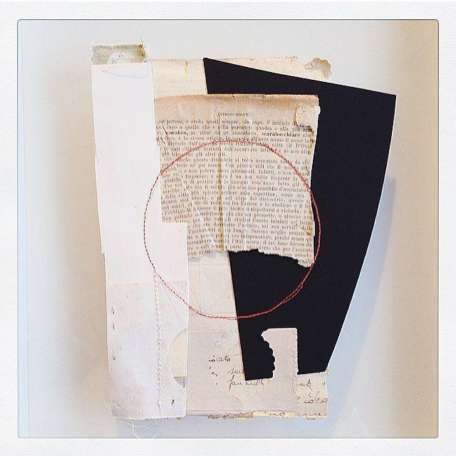 """#2 todayssmallcollage . . #sophieklerk #project #collage #collageart #mixedmedia #paper #art…"""