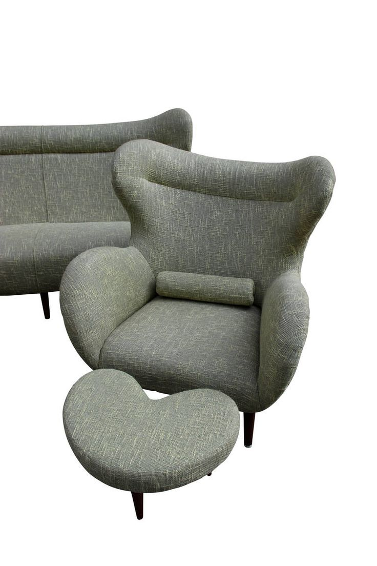 Anonymous; Lounge Chair and Ottoman, c1960.