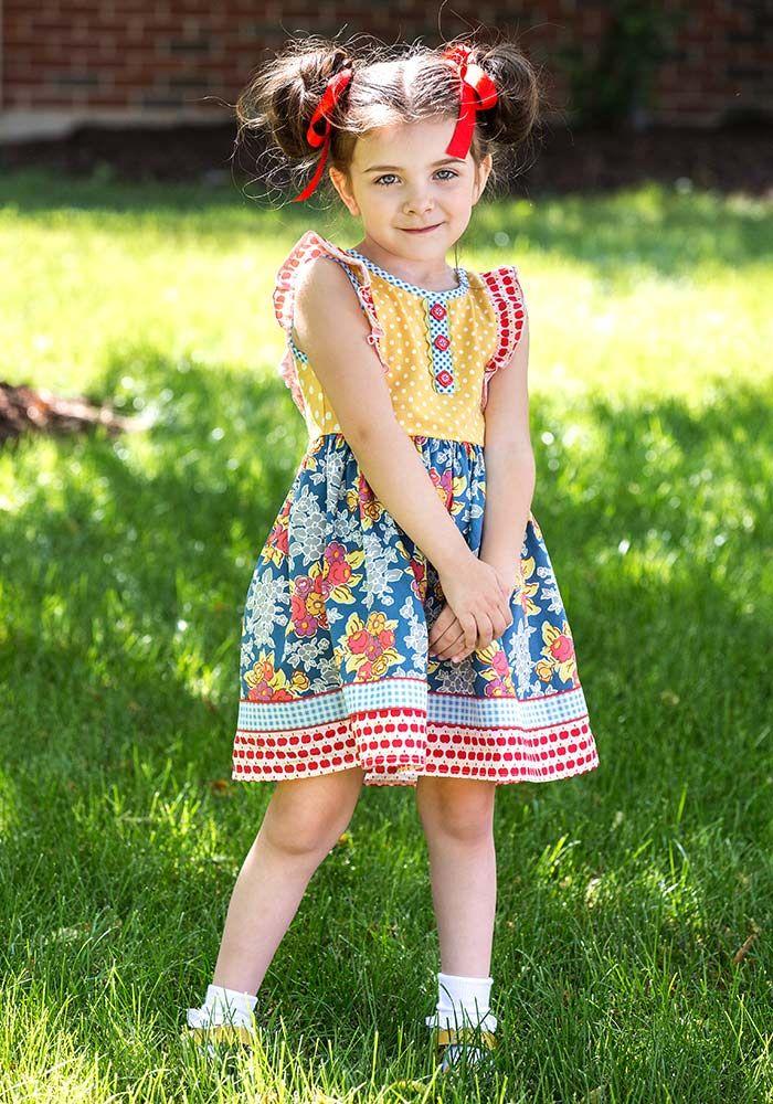 Around the Globe Dress - Matilda Jane Clothing