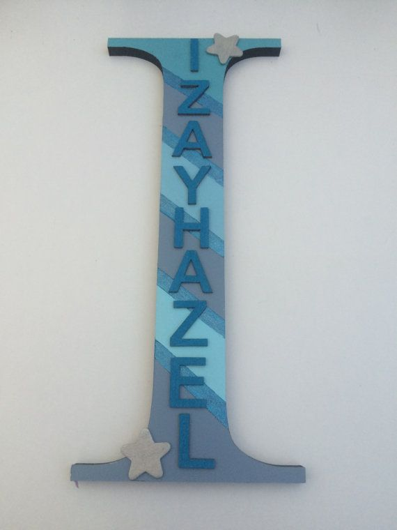 Freestanding wooden letter  personalised  by craftycreationsnz