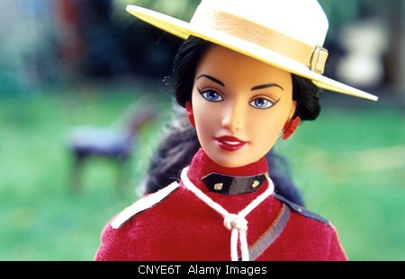 Expat Barbie - the Canadian Mountie