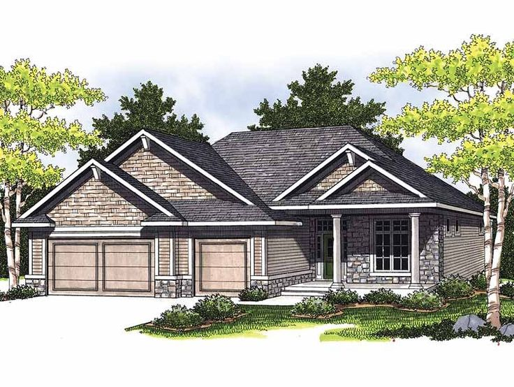 Bungalow house plans with basement and garage free for Affordable garage plans