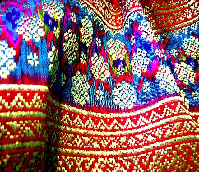 Pretty color of Kain songket. Traditional cloth from Palembang, Indonesia!