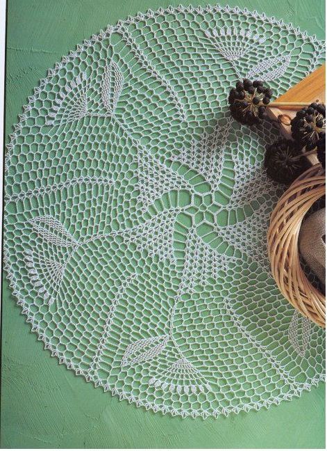 'Meadow Thistle' Crochet Doily - Free pattern and graph