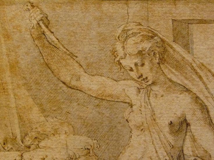 PARMIGIANINO (Attribué) - Lucrèce se poignardant (Malmaison) - Detail -c