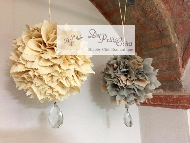 Pompon tessuto - fabric pompon - boule en tissu