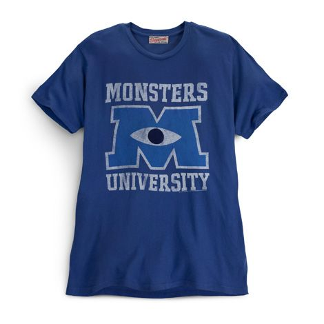 T-shirt Blue | Store | Monsters University  AWESOME SITE!  love the distressed look