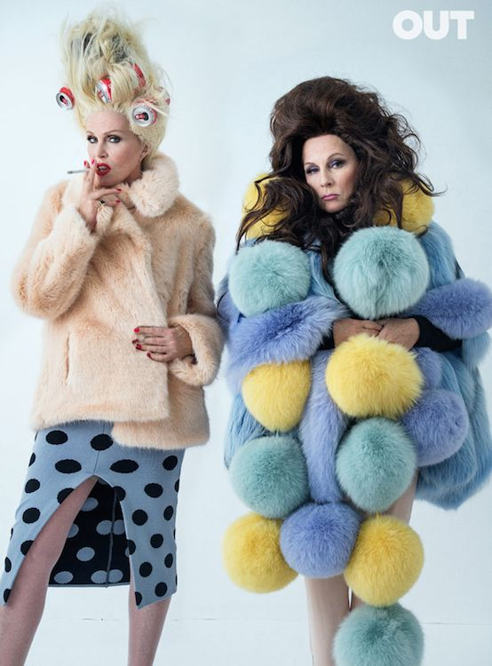Looking Absolutely Fabulous on Out's August Cover; Jennifer Saunders and Joanna Lumley photographed for Out by Tim Walker.