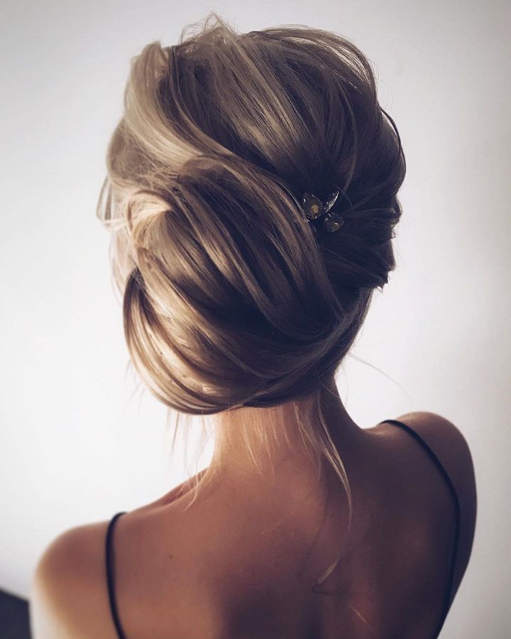 gorgeous hairstyle ideas   Bridal updo hairstyle   messy updo wedding hairstyles   fabmood.com #weddinghair #harido updo hairstyle #promhair #besthairstyle #hairstyle #hairstyleideas #hairinspiration #weddinghairstyleideas #hairideas