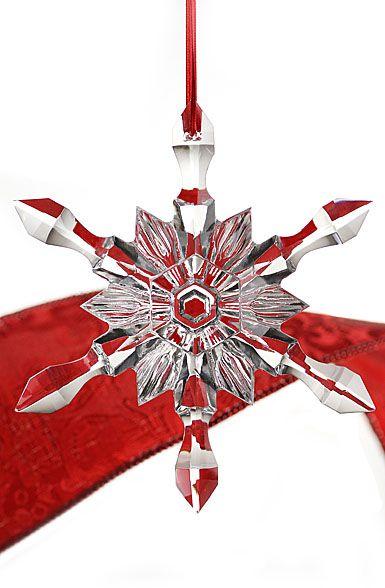 Baccarat snowflake ornament
