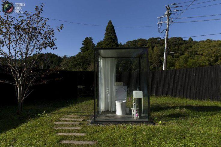 Ook een idee voor het buitentoilet.