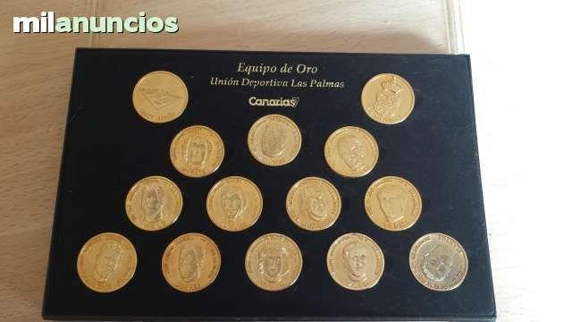Vendo colección de 14 monedas de la union deportiva las palmas. Anuncio y más fotos aquí: http://www.milanuncios.com/monedas-de-coleccion/monedas-equipo-de-oro-las-palmas-145077322.htm