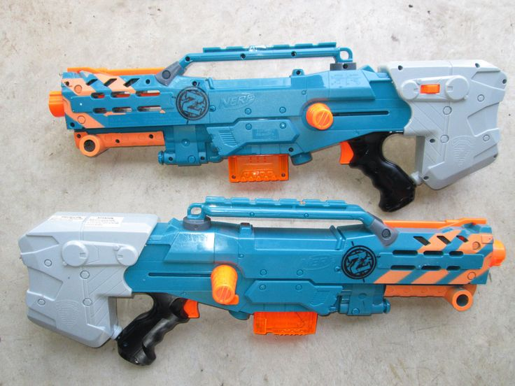 SET OF 2 ZOMBIE STRIKE Nerf Longshot W/MAGAZINE CS 6  Rifle Sniper Clip Dart Gun
