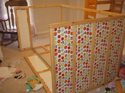 Covering an IKEA Kura with fabric (or paper) - tips