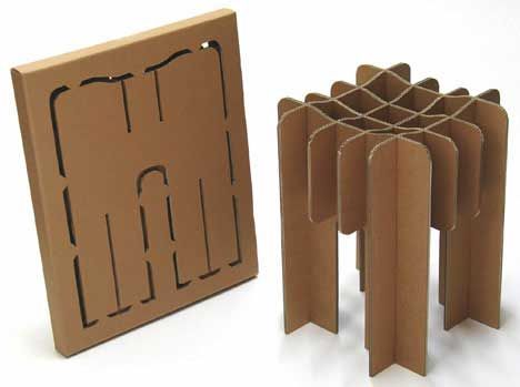 Design Mobiliário Cadeira de Papelão Reciclado de David Grass 03