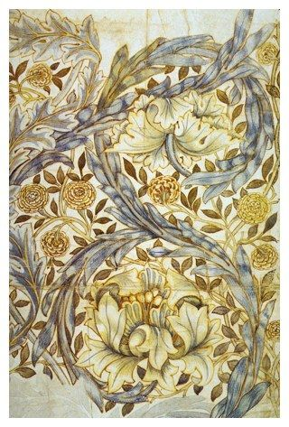 WILLIAM MORRIS (1834-1896) 'African Marigold', 1876 (pencil and watercolour sketch for textile design)